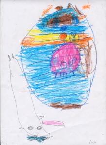 Luisa, 5 años - Insecto Bolita